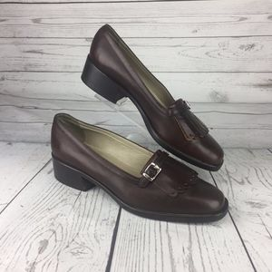 Circa Joan & David Women's Shoes Brown Loafers 7.5